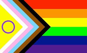 Inclusive progressive rainbow LGBTQIA flag