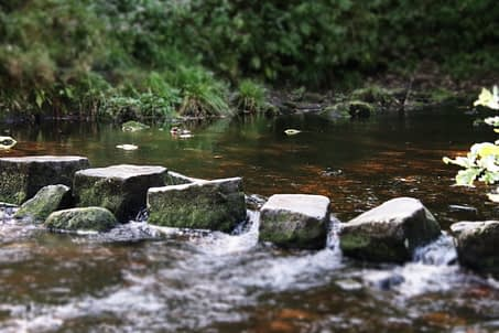 clinical supervision is represented by stepping stones in a stream
